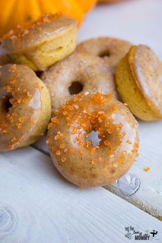 Baked Mini Pumpkin Donuts Easy to make!