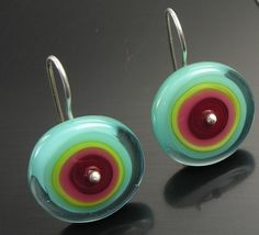 circle earrings, lovely colours