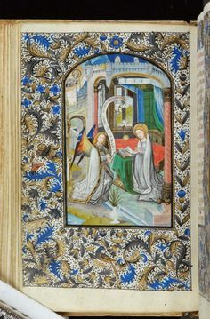 Book of Hours, MS H.7 fol. 35v - Images from Medieval and Renaissance Manuscripts - The Morgan Library & Museum