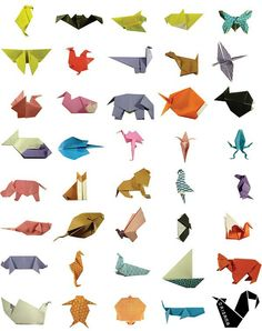 Origami animals!  https://www.facebook.com/origama.portugal