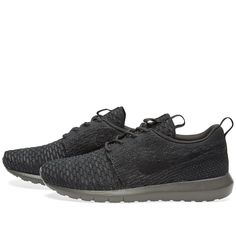A classic silhouette with exceptional comfort, Nike's Roshe NM Flyknit combines the brand's greatest innovations with a minimalistic design. The brand's pioneering Flyknit conforms to the foot for a snug, sock-like fit that offers both comfort and support, while the combination Phylon midsole with waffle outsole give the needed ultra-light cushioning.  Flyknit Uppers   Phylon Midsole   Lightweight Cushioning   Moulded Sockliner   Flyknit Uppers   Style Code: 677243-001