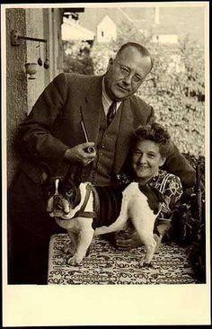 French Bulldog, vintage photo.