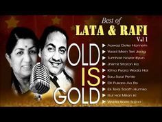 Best of LATA & RAFI - Golden Collection of Hindi Yugaleet   OLD IS GOLD - YouTube Top 10 Hits, Lata Mangeshkar, Romantic Songs Video, Old Song, Me Me Me Song, Beautiful Indian Actress, Milan, Singing, Youtube