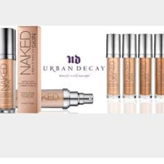 Urban Decay Foundation ALL SHADES New Urban Decay Foundations have several shades available just ask me your shade I can tell you if it's available or not. These Retail @$40.00 Sephora Macy's 100% Authentic Very Natural look I HAVE ALMOST ALL SHADES 7.0, 7.5, 8,0, 9.0 9.75, 10.0, 11.0 12.0 ASK AND I CAN DO LISTING FOR YOU Urban Decay Makeup Foundation