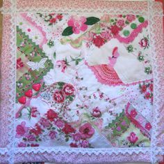 I ❤ crazy quilting . . . Crazy Quilting with Vintage Hankies ~By Two Crafty Mules: