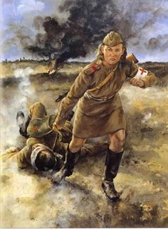 Women in WWII ~ Field medic Mariya Borovichenko, Battle of Kursk; July 1943 ~ BFD