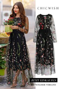 Floral Embroidered Mesh Maxi Dress 2019 clothing clothing labels clothing patches clothing wholesale flower clothing fly shirts shirts for ladies shirts sunshine coast style clothing tee shirts clothing Sommer Garten Hochzeits Kleider Stylish Dresses, Elegant Dresses, Pretty Dresses, Beautiful Dresses, Casual Dresses, Fashion Dresses, Fashion Clothes, Modest Formal Dresses, Clothes For Women In 30's