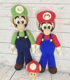 93c826e0e4491 Amigurumi Freely  Mario and Luigi Mario Crochet, Crochet Game, Knit Or  Crochet,