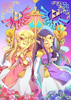 /A Link Between Worlds/#1652554 - Zerochan | The Legend of Zelda: A Link Between Worlds' Princess Zelda and Princess Hilda