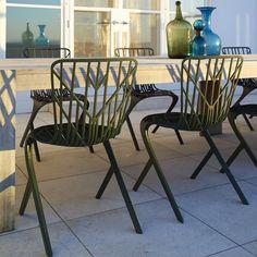 David Adjaye Washington Skeleton Chair Outdoors