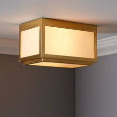 This as a sconce. Classic Cubic Flushmount + Sconce - Rectangle