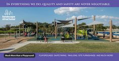 Little Elm Park - Community Park Playground with SkyWays® Shade Products Commercial Playground Equipment, Little Elm, Landscape Structure, Park Playground, Street Furniture, Skate Park, Trail, Playgrounds, Shades