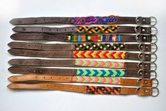 Dog Collar Leather Mexican Texil by kuuch + 13 other awesome handmade dog products and DIY ideas