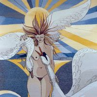 Woman and Swans - Pauline Bewick. Awesome Art, Cool Art, Artist Project, Project Presentation, Swans, Tapestries, Art History, Woman, Gallery