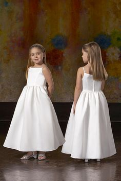 Discount Simple Style Spaghetti Straps Wrinkled Satin A-line Cheap Flower Girl Dress In UK (UKCFGD-004) Online