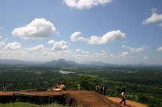 Amazing view from the top of Sigiriya in Sri Lanka