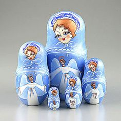 Blue Angel Nesting Doll by The Russian Store, via Flickr