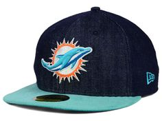 innovative design efe51 0f8a9 Miami Dolphins NFL Densuede 59FIFTY Cap Hats Miami Dolphins, New Era Fitted,  New Era