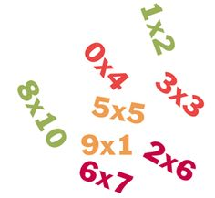 Impara qui tutte le tabelline dall'1 al 10 con il programma 5-fasi. Esercitati con i test a tempo, i giochi e i fogli di lavoro e otterrai il diploma.