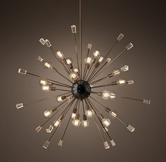 "Italian Starburst Chandelier 58"" - $1196 - pretty spectacular for the master bedroom"