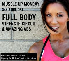 Live Streaming Fitness Classes Online! Grab some weights and jump in!