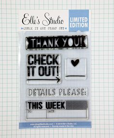 Check It Out Exclusive Stamp :: Stamps :: Exclusives :: Elle's Studio