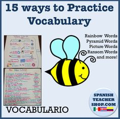 15 Ways to practice vocabulary: Lesson Plans for Spanish Class