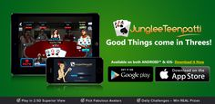 You don't need a reason for not playing TeenPatti.. Do you? Now Junglee TeenPatti available for both Android and iOS devices.. Join the tables and Win lots of Chips! For Android : http://app.adjust.io/9b3649 For iOS : http://goo.gl/YjNzwg #Poker