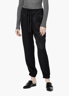 Geometric jacquard trousers -  Women | MANGO