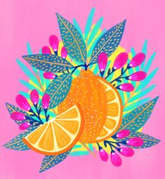 Weve been covered in snow here in Seattle, so I wanted to make something citrusy and sunny 🍊💛 I dont often compose a piece with a single… Painting Inspiration, Art Inspo, Phoenix Artwork, Illustrations, Illustration Art, Posca Art, Arte Country, Art Plastique, Pattern Art