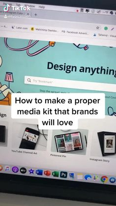 Every content creator needs a media kit whenever they want to work with brands. Best Small Business Ideas, Small Business Plan, Small Business Marketing, Life Hacks Websites, Useful Life Hacks, Graphic Design Lessons, Small Business Organization, Instagram Marketing Tips, Life Hacks For School