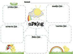 Spring Descriptive Writing