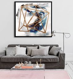 Wall art, abstract, abstract art, watercolor, geometric art, abstract painting, modern art, geometric, Danish art, Danish design _________________________________________  Abstract art print by Amy Lighthall  Pretty shades of blue and geometric shapes are featured in this print.  Dimensions available: 5 x 7 8 x 10 11 x 14 16x20 Square sizes: 5x5 10x10 12x12 20x20  - Please choose from drop down menu above!  This listing is for 1 print in the size that you chose. Professional quality archival…