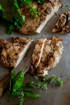 garlic herb marinated chicken - this is basically something i live on.