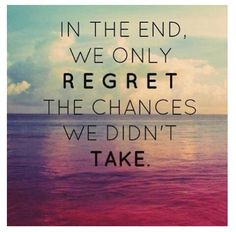 Regretion: taking the risks of chances