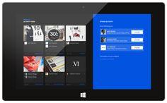 Behance Windows 8 App by Corey Ginnivan, via Behance