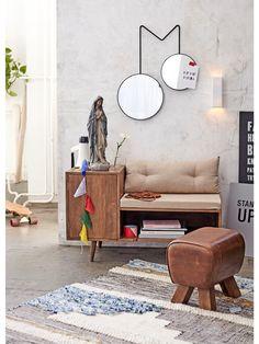 Fenster Holz Spiegel 2 Klappen Antik Rustikal Design Blau Oder Beige Elegant Und Anmutig Möbel & Wohnen Spiegel