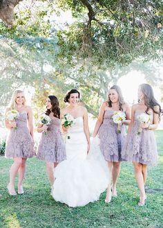 lavendar lace bridesmaid dresses