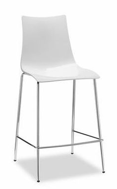"""Zebra"" Modern Plastic Breakfast Bar Stool 65cm in White AU$229 - https://www.simplybarstools.com.au/products/zebra-modern-plastic-breakfast-bar-stool-65cm-in-white – Simply Bar Stools - chrome, fixed leg, steel, counter stools. #Australia #Furniture"