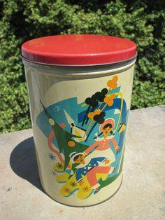 1950's Bonomo Korday Candies Tin Brooklyn New York  RARE