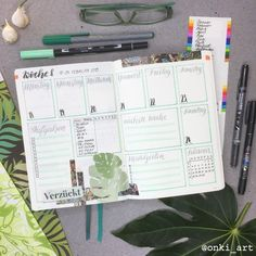 #Wochenübersicht #weeklyspread #greenery