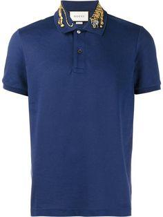 0bad23f8 Gucci tiger embroidered polo shirt Cheap Gucci, Fashion Trends, Mens  Fashion, Fashion Wear