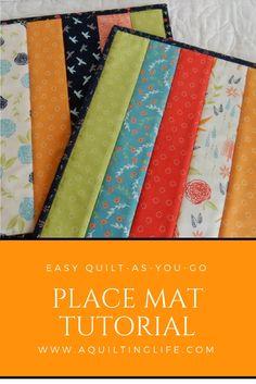 Easy Quilt As You Go Placemats | Tutorials, Learning and Easy : quilt as you go placemats - Adamdwight.com
