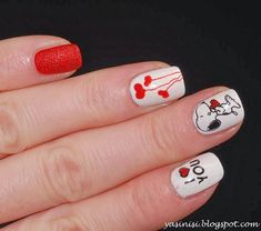 Cute Snoopy Nails