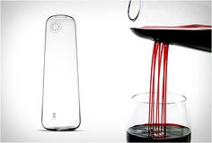 Rainman Decanter is a carefully and purposefully designed decanter, its main purpose is to provide aeration to your wine, it does so with the obvious decanting process, but also when you´re pouring it. It serves your beverage through eight smaller holes on its side, producing something of a shower effect, and allowing the wine to breathe more, attaining its full potential more easily. It´s made from hand-blown glass, so it´s really exclusive and well finished, with that special craftsmanship tou
