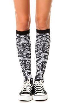 K. Bell Women's Fair Isle Knee High One Size Black K. Bell Socks http://www.amazon.com/dp/B00GPKSE8E/ref=cm_sw_r_pi_dp_Hi75tb1FZ35WE