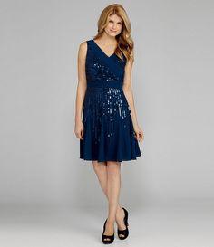 New Antonio Melani  Irenka Sequin Dress  Teal 14  MSRP $179 sleeveless  Cocktail