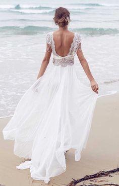Vestido noiva de Annacampbell