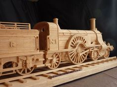 Stirling Single (2) Popsicle Stick Crafts, Popsicle Sticks, Wooden Projects, Wood Crafts, Matchstick Craft, Metal Models, Scale Models, Bamboo Lamp, Steam Locomotive