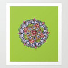 Purple Mandala Art Print by Meredith Bub - $12.48